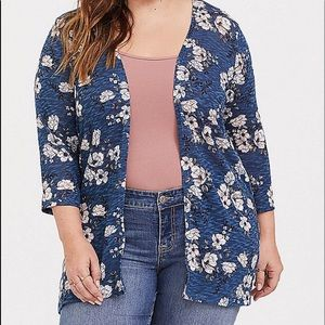 Nwt Torrid size 5 Floral Hacci Kimono Cardigan